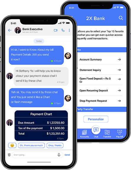 Secure messaging app for Banking